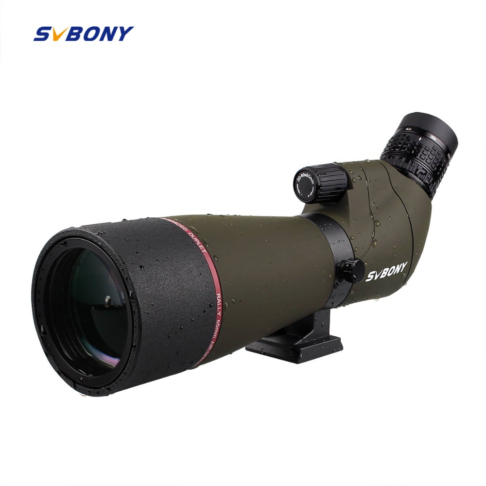 SVBONY SV13 Spotting Scope 20-60x 65mm Zoom MC Optics Refractor 45 DE Powerful Telescope+Phone Adapter Archery Birdwatch F9314 цена