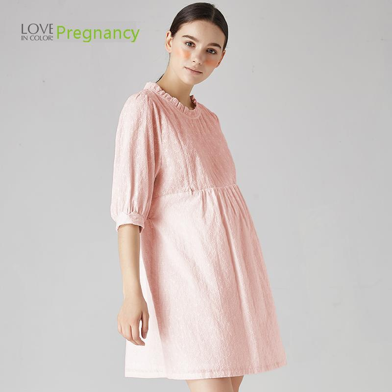 Maternity Clothes Breastfeeding 2018 Spring Clothes Nursing Maternity Dresses For Pregnant Women High Waist new party pregnant coat lace long pregnant breastfeeding dresses for women nursing dress hot selling