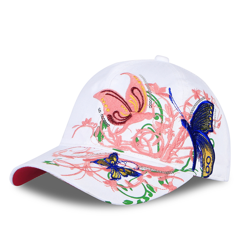 683a7085e Cora Wang High quality baseball hat cap Butterflies and flowers embroidery  cotton caps Casual hats snapback cap fashion for wome-in Baseball Caps from  ...