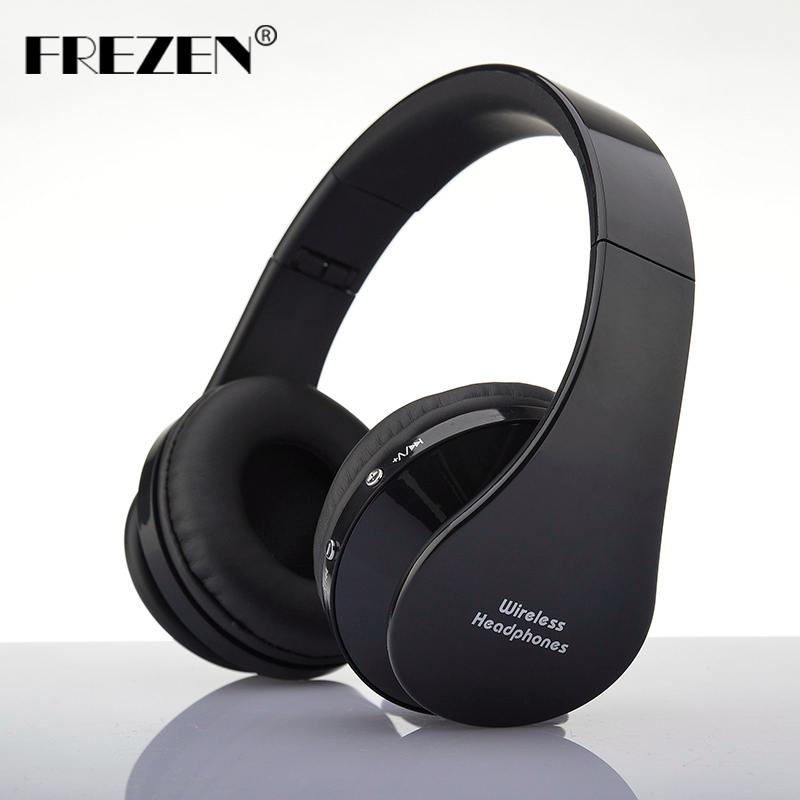 FREZEN NX-8252 Stereo Wireless Bluetooth Headphones V3.0+EDR Sport Headset With Microphone Noise Canceling For Smart Phone Ipad universal super long standby wireless bluetooth headset with edr microphone black