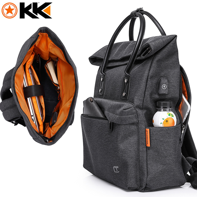 Korean Style men s women Backpack for 15 6 Laptop Large Capacity USB charge Waterproof male
