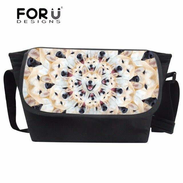 fcf8c004d015 FORUDESIGNS Trendy Men Messenger Bags Teenager 3D Dog Printing Crossbody  Bags for Boys Unique Shiba Inu Pattern Satchel Bolsa