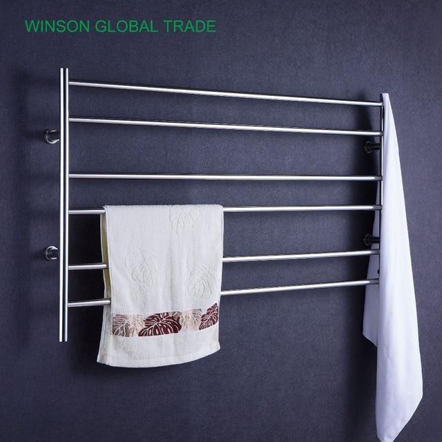 US 355 0 ICD50015 304 Stainless Steel Heated Towel Rail Electric Towel Holder Banheiro Bathroom Prateleira Warmer Towel Heater In Towel Racks From