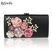 Rdywbu 3D Flowers Women S Handmade Evening Bag 2017 New Chain Day Clutches Floral Faux Pearl