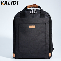 KALIDI Men's Canvas Backpack Casual Backpack for Teenage Student School Backpack Laptop Backpack for Mackbook 13.3 15.6 inch