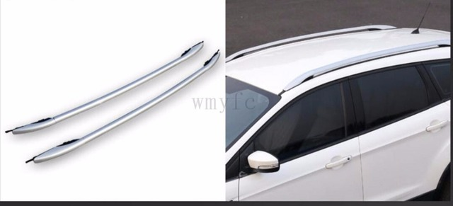 For Ford Escape Kuga 2017 2016 Aluminium Alloy Carrier Bar Roof Rack Side Rails Bars Outdoor Travel Luggage