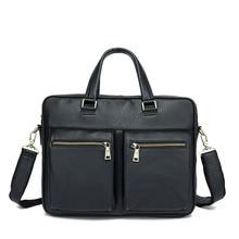 Genuine Leather Men Bags Genuine Cow Leather Male Bag Men's Briefcase Laptop Shoulder Bags Man Messenger Handbags Quality