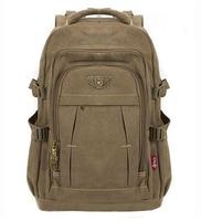 Man's Canvas Backpack Travel Schoolbag Male Backpack Men Large Capacity Rucksack Shoulder School Bag Mochila Escolar