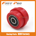 Red 8mm Chain Roller Tensioner Pulley Wheel Guide For YZF KTM RMZ KLX CRF 80 250 150 250 450 Motorcycle Motocross Pit Dirt Bike