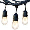 52FT LED al aire libre luces de bombillas de Edison impermeable vacaciones lámpara de luces decorativas Navidad jardín Cadena de luz