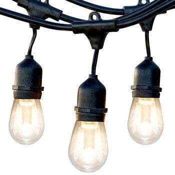 52FT LEVOU Ao Ar Livre Luzes Da Corda Lâmpadas Edison Lâmpada Do Feriado À Prova D' Água Corda Luzes Decorativas para o Natal Seqüência de Luz Jardim
