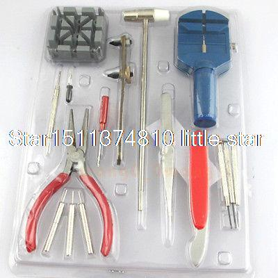 16PCS Watch Repair Tool Kit Watch band Link Adjusting Opener knife Remover tool high quality professional 20 pcs watch repair tool kit set with bag link pin remover case opener watch hand remover