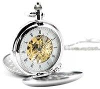 ความสง่างามแฟชั่นบุรุษโบราณนาฬิกาจักรกลอัตโนมัติสร้อยคอวิน