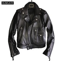 Black Red 100% Sheepskin Coat Woman Korean Plus Size Real Leather Casual Jacket Biker Streetwear Casacos De Inverno Feminino