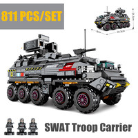New Wandering Earth CN171 Troop Carrier Military fit legoings Swat Military Technic Army Truck Building Blocks Bricks toys gift