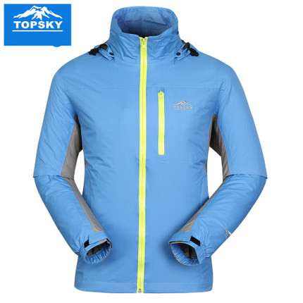 TopSky outdoor spring winter font b Men b font Windbreaker Rain flower stones single layer warm