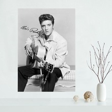 Nice Elvis Presley Poster Custom Canvas Poster Art Home Decoration Cloth Fabric Wall Poster Print Silk Fabric nice audrey hepburn custom canvas poster art home decoration cloth fabric wall poster print silk fabric