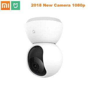 Умная камера Xiao mi jia 1080P, IP камера, видеокамера с углом обзора 360 градусов, Wi-Fi, беспроводная камера ночного видения для приложения mi Smart Home, 2018