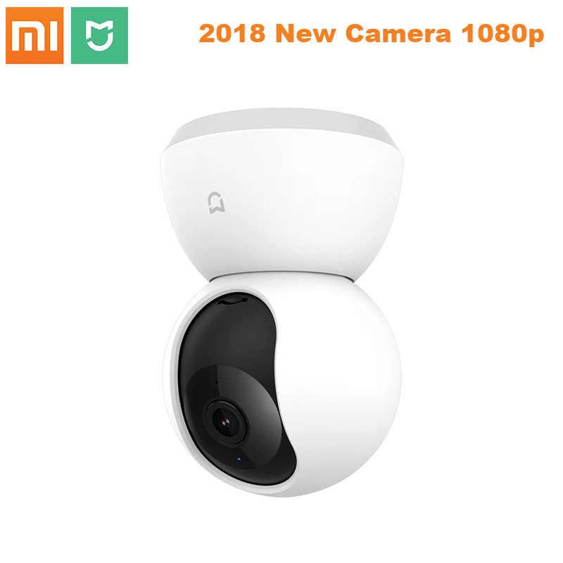 2018 nuevo Xiaomi mi jia 1080P Cámara inteligente IP Cámara Webcam videocámara 360 ángulo WIFI visión nocturna inalámbrica para mi aplicación de hogar inteligente