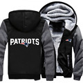 Wholesale Lots Fashion Patriots Foot Ball Team Winter Autumn Women Men Hoodie Zipper Fleece Jacket Casual Sweatshirts Sportwear