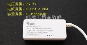 Мини-детектор напряжения и тока с ЖК-дисплеем, USB, с белым хвостом, для мобильных телефонов, 1 шт., тестер емкости
