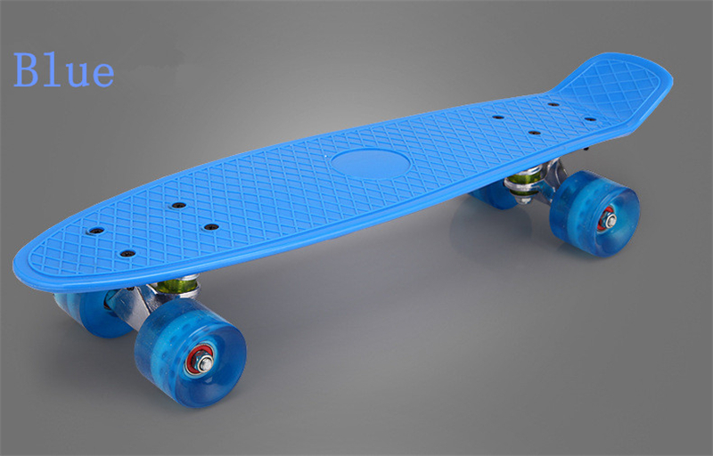 Nouveau Freestyle Cool Mini Cruiser planche à roulettes unique banane Longboard enfants deviennent déformés route Sport Skate Board 10 couleurs - 4