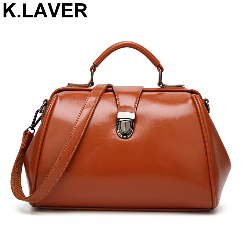 Women Leather Shoulder Messenger Bag Ladies Casual Crossbody Satchel Bolsa Feminina Tote Bags Female Purse sac a main Doctor Bag aibkhk new leather middle aged women messenger bags women handbag satchel shoulder bags casual joker cowhide bag purse tote