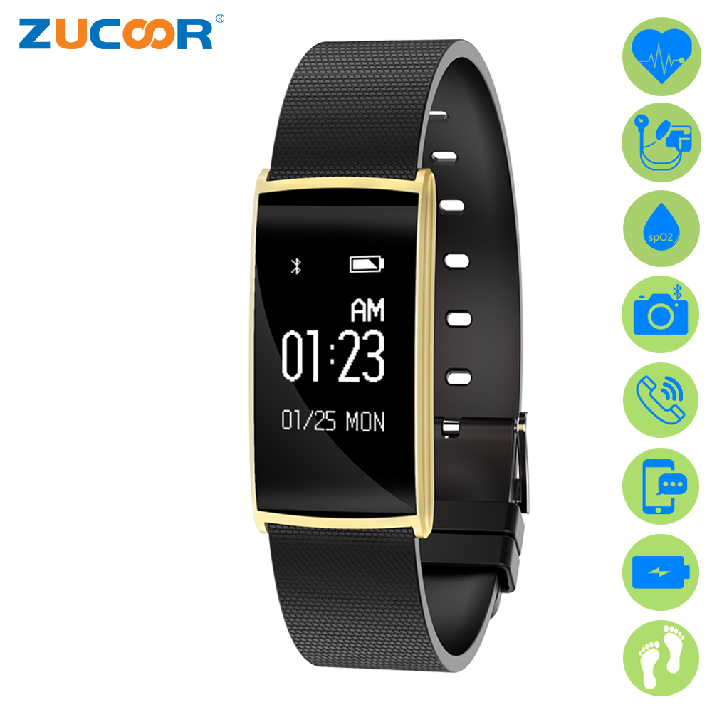 ᐊZucoor pulsera inteligente fitness activity Tracker ritmo cardíaco ...