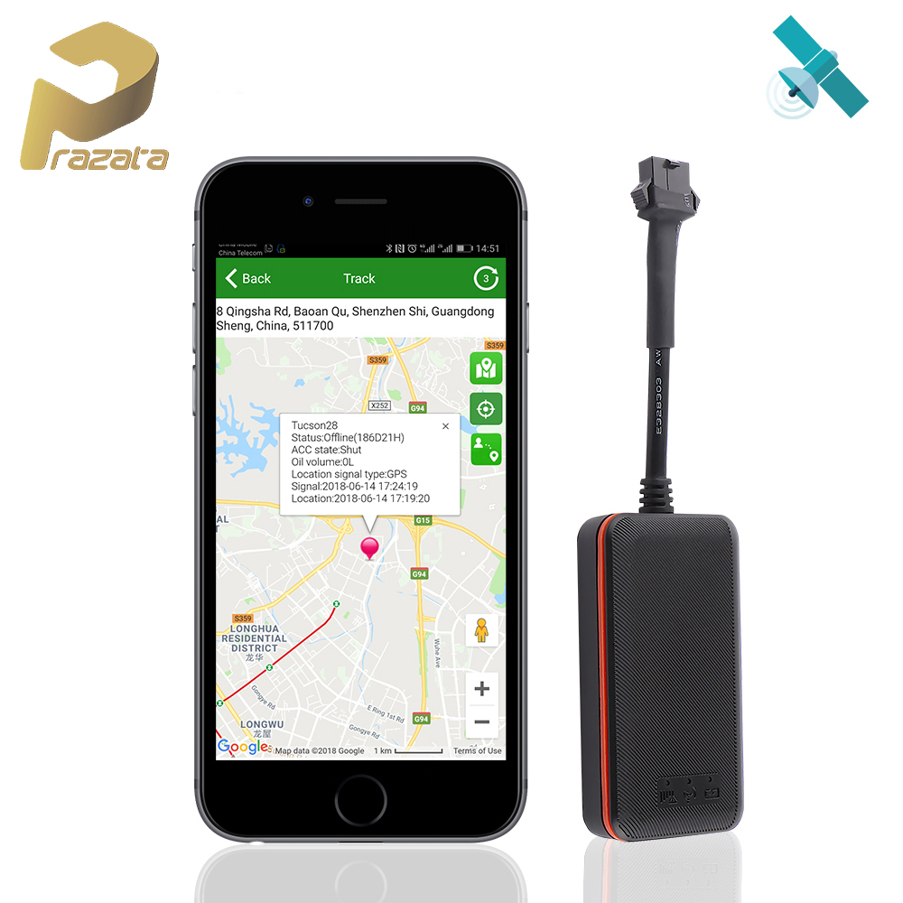 Mini Car Tracker Vehicle GPS Tracker TK108 2G GSM Tracker Cut Off Oil Power Vibration Alarm Relay Tracker Waterproof PK TK905 title=