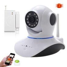 Ик Ночного Видения IP Сетевая Камера Wi-Fi ВИДЕОНАБЛЮДЕНИЯ Ip-камера WI-FI 720 P HD С Датчик Двери Окна