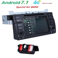 4GWIFI Android7.1 Car DVD Player for BMW E46 Range Rover Bluetooth Retrofit Kits with Quad Core Cortex A9 Radio Tape Recorder BT