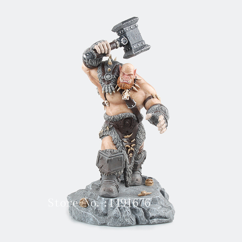 Online Game Wow Ogrim Doomhammer PVC Action Figure 30 CM High Chinese Version Birthday Gift