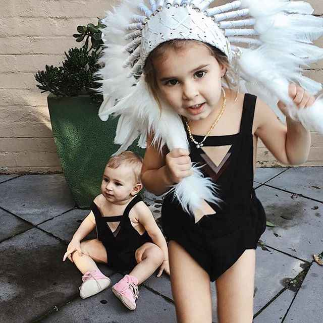 2017 новорожденных милые Треугольники украсить Straped черный спинки боди для новорожденных Костюмы Одежда для малышей смешные детские комбинезончики для