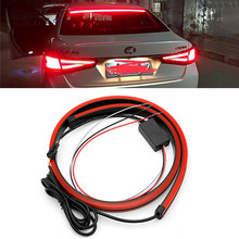 Flowing LED Car Additional Brake Light DRL Red LED Daytime Running Light FOR VW Golf Passat T5 Polo Mitsubishi Outlander Lancer