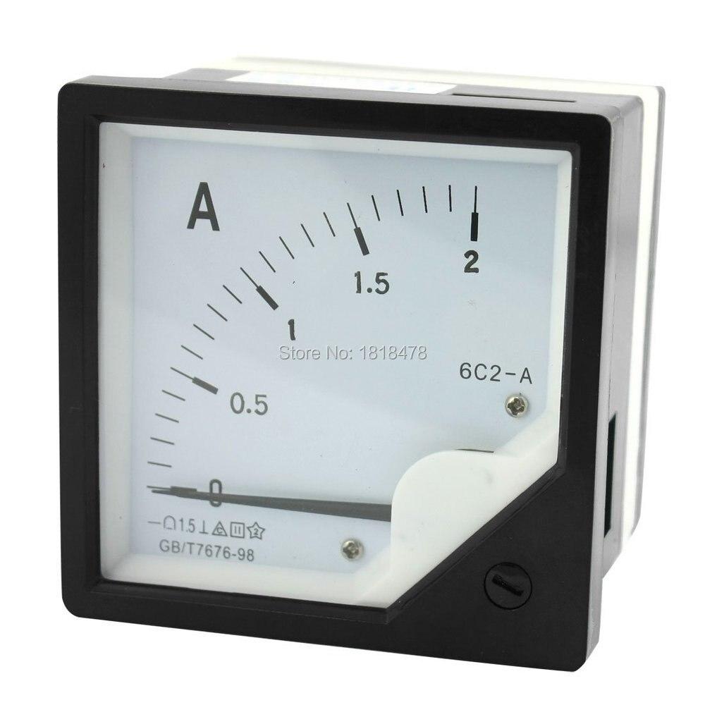 6C2 DC 0-2A 1A 3A 5A 10A 15A измерительный инструмент прямоугольная панель аналоговый измеритель Амперметр 80*80 мм