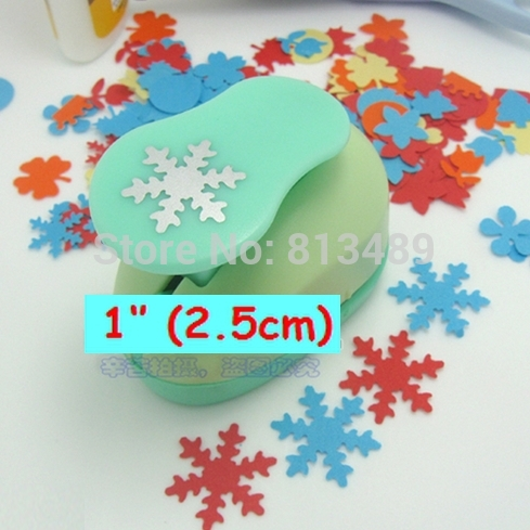 Scrapbooking 1''(25mm) Snowflakes Punch Paper Cutter For Crafts And Scrapbooking Furador Cortador De Papel Embossing Machine