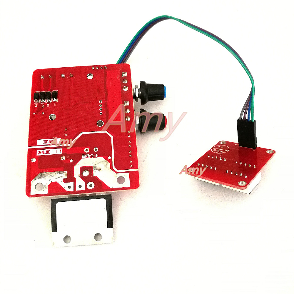 Время точечной сварки и текущий контроллер панель управления синхронизации тока с цифровым дисплеем обновления 100A
