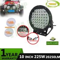 10inch 225w NEW Led Driving Light IP68 Super Bright Led Work Light 5W XLGP Leds Used