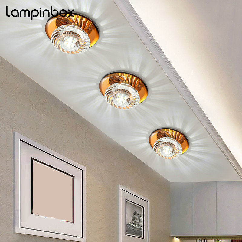 Modern Minimalist 5W LED Ceiling Lamp indoor Bedroom Living Room Crystal Ceiling Light Aisle Light Corridor Lamp Lighting LP-025 crystal flower pendant light modern lighting living room lamp bedroom lamp aisle lighting