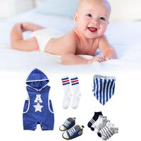 New Summer Baby Boy Clothes Kids Clothes Sets Newborn Sports Style Suit Innovative Styling Romper Shoes Sportswear Suit