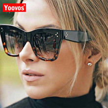 Yoovos 2019 Square Sunglasses Women Vintage Brand Design Ret