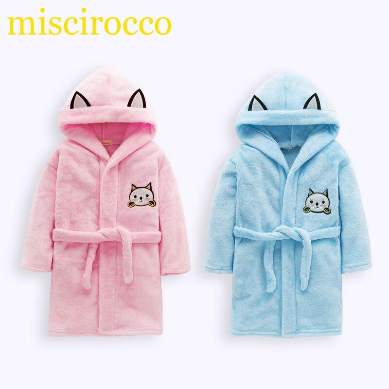 Cartoon high quality kid robe Towel wrap Bathrobe kids beach towels with hood Boys clothing girls kimonos Super soft flannel
