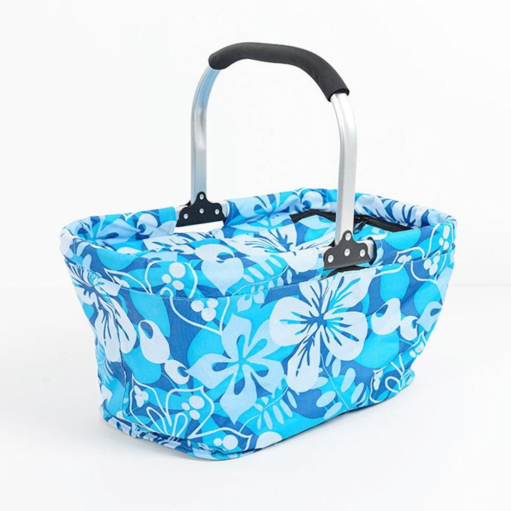 Pliage pique-nique sac portable châssis En alliage D'aluminium panier pique-nique en plein air étanche packs de glace boîte de glace de la bière réfrigérateur sac à lunch