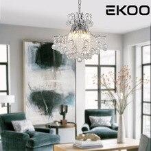 EKOO Crystal  Living Room Lamp lustres de cristal pendant Light for Bedroom, Hotel, Dining Room