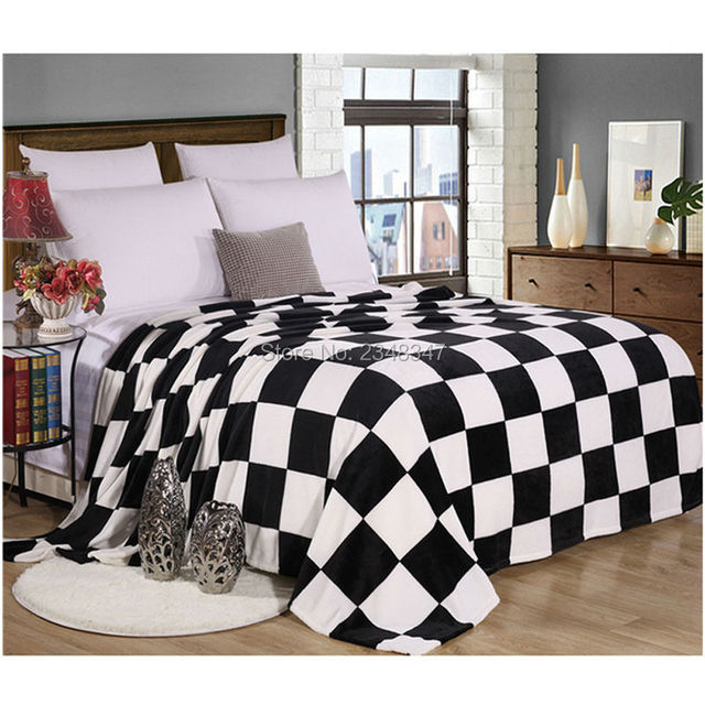 Plush Flannel Fleece Blanket Throws Twin/Full/Queen/King Size Bed ...