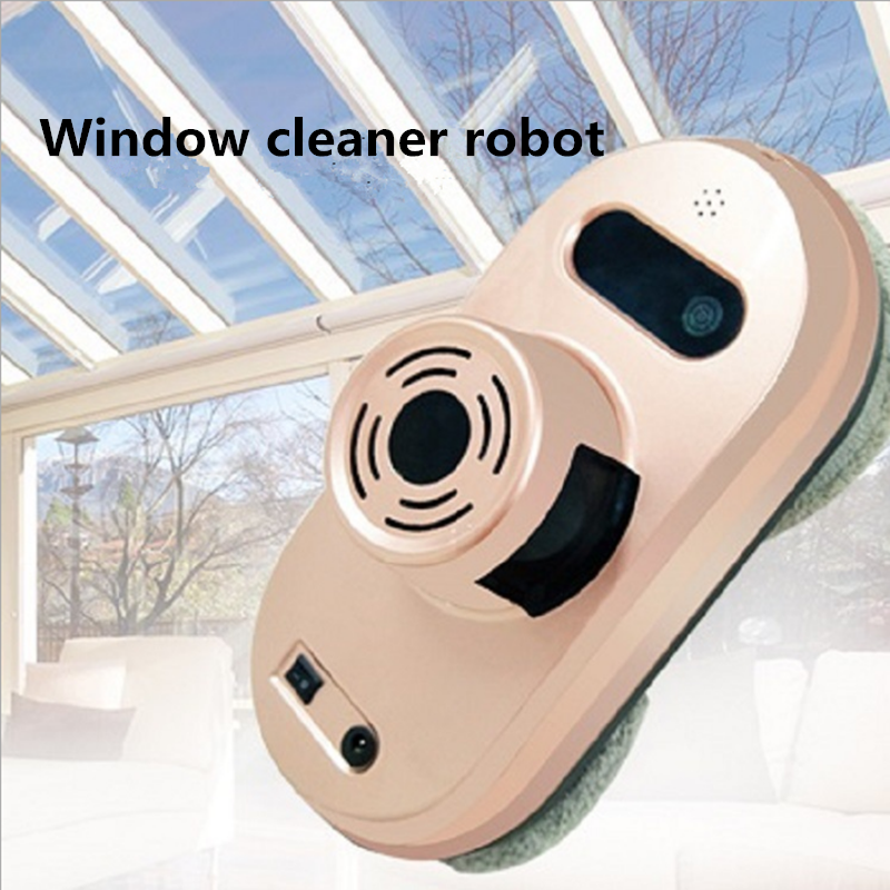 Remote Control Wet and Dry Function Auto Clean Anti-falling Magnetic Electric Window Cleaner Robot máy xay sinh tố của đức