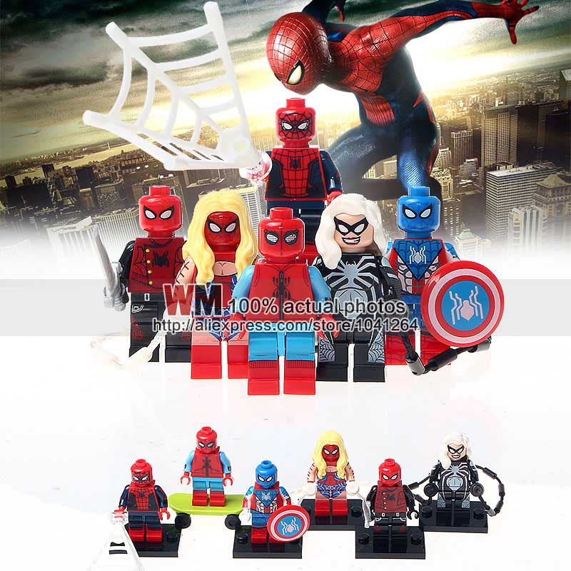 Toys & Hobbies Forceful 10lots Ofdecool 0274-0279 Spider-honecoming Spiderman Spider Biker Spider Girl Building Blocks Children Gifts Toys Drop Shipping Aesthetic Appearance Model Building