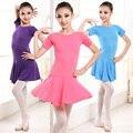 Rosa Preto Salsa Meninas Trajes da Dança Do Bailado Crianças Patinação Roupas de Ginástica Leotards Ballet Tutu Vestido