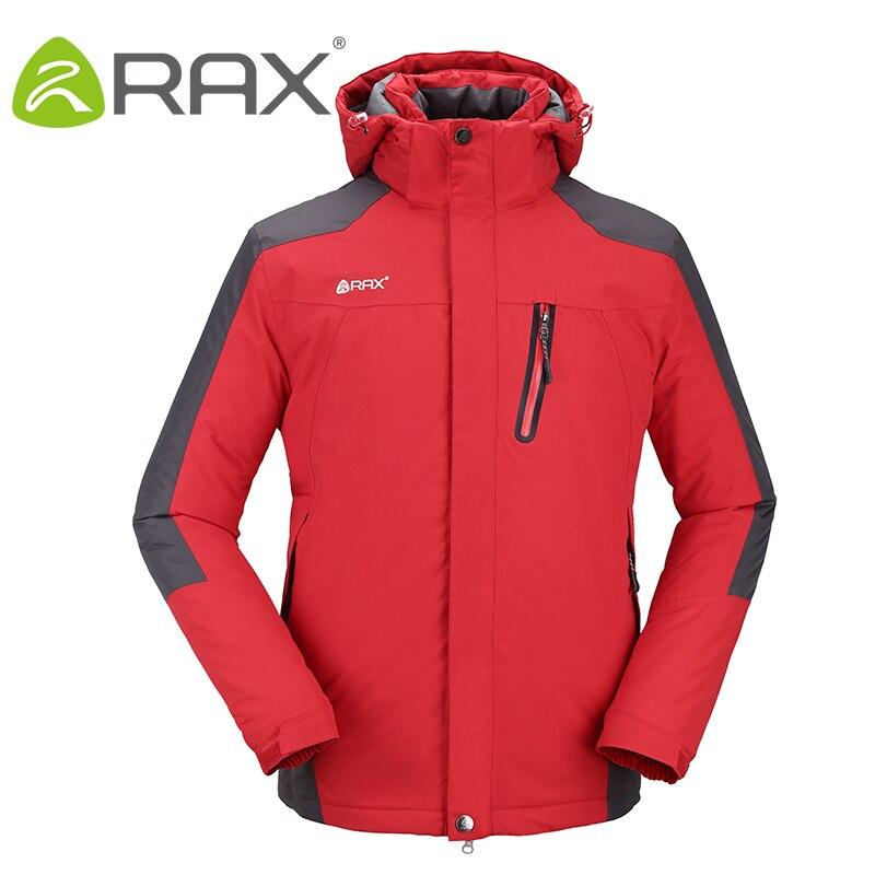 Rax Winter Waterproof Windproof Outdoor Hiking Jacket For Men Windbreaker Softshell Jacket Fleece Jacket Men Thermal Rain Jacket