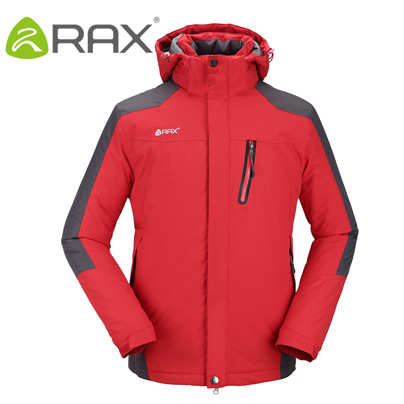 Rax Winter Waterproof Windproof Outdoor Hiking Jacket For Men Windbreaker Softshell Jacket Fleece Jacket Men Thermal Rain Jacket